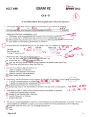 640 Exam 2 - 2012 Fall Ch 6-Ch 8 - Solutions