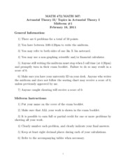Math 472 Spring 2011 Midterm 1 Solutions