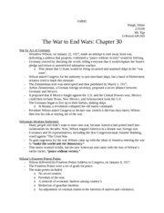 Notes-the war to end wars