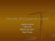 Decade Of Corporate Greed ass. wk 7