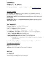 Curriculum Vitae En Ingles Docx Curriculum Vitae Personal Data
