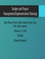 Budget and Project Management team d (1)