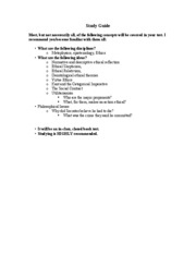 philosophies of life study guide