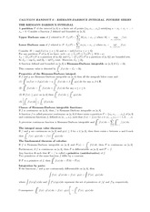 Handout 6 on Integrals and Fourier Series