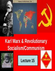 E & S Lecture 15 Marx and Revolutionary Socialism.ppt