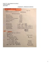 Assignment 22 - Statement of Cash Flows