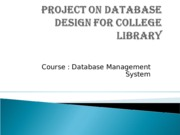 PPT on Database Design for College Library