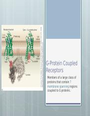 G-Protein Coupled Receptors.pptx