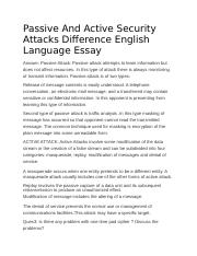 Passive And Active Security Attacks Difference English Language Essay.docx