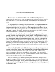 what characteristics make an essay expository Learn how to write an expository essay with this guide to the different types of exposition find tips and strategies for writing an expository article in this style of writing, topics are defined by characteristics, traits, and examples.