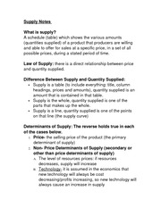 Supply Notes