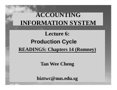 Lecture 6 Production Cycle