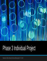 Phase 3 Individual Project