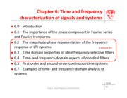 Module 6 Time and frequency characterization of signals and systems - lecture 34
