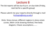 MTE 455 Lecture 8