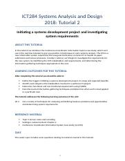 ICT284 2018 S1 Tutorial 2 - Investigating requirements.docx