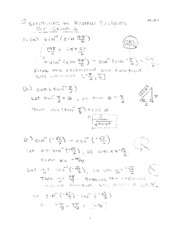 Math 11 - 2010 Summer - Review Problems - Exam 2 - Solutions