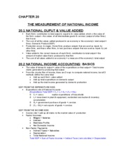 CH 20 - Measurement of National Income