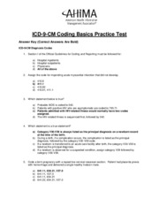 ICD9-CM Practice Questions_Answer Sheet