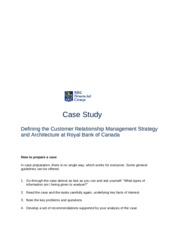 Case Study Royal Bank of Canada