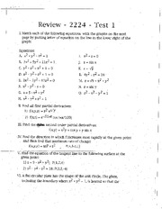 Practice Problems for Test 2