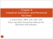 Sanitation and Personnel Facilities - JGE