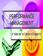 Performance Management PowerPoint (O'Bannon version)