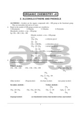17.Organic chemistry_Alcohols, Ethers and Phenols_
