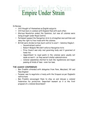 Empire Under Strain Lecture Notes
