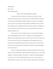 Cultural Analysis Essay