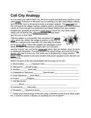 Cell City Analogy Homework.docx