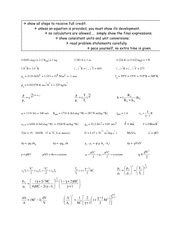 Exam 1 equation sheet