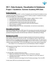DS 1 Project_ Summer Academy NPS Data.pdf