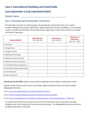 Case 3 - Generational  Marketing Instructions and Forms