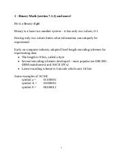 1 - Chap 7A - Binary Math