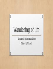 Wandering of life