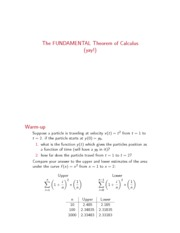 Dartmouth Math 3 Introduction to Calculus Lecture Notes 13