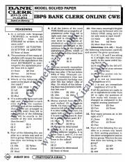 IBPS Clerk exam 14-12-2012 December solved question paper