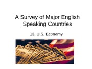A Survey of Major English Speaking Countries 13