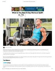 What Is The Best 5-Day Workout Split_