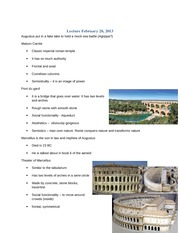 12 Lecture February 28 Augustan Forum