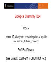 Lecture 12 Charge and pI on Proteins(1)