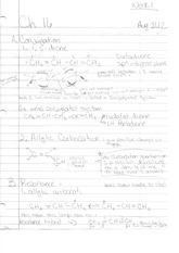 Organic Chem II Class Notes- Conjugation