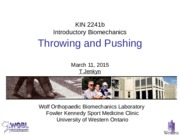 Lecture 22 Throwing and Pushing 110315