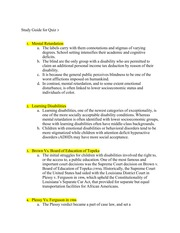 Mental Retardation Study Guide