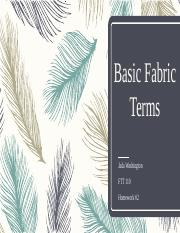Basic Fabric Terms - FTT 110.pptx