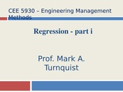 CEE 5930 Regression -- Part 1 -- Fall 2014