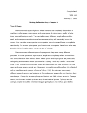 wra - reading reflection_Gray chapter 9