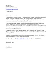 Professional Development Example Cover Letter