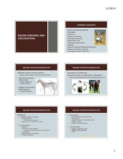 Equine Diseases and Vaccinations (Thurs&Tues) (Fall14)_six